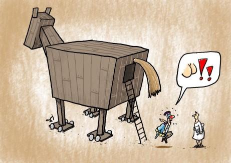 koń trojański, dupa, trojanie, grecy, rycerz, wojownicy, plan