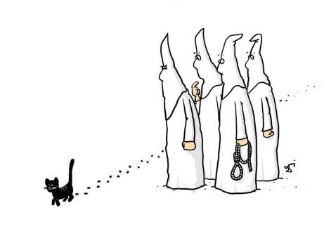 ku klux klan, kot, przesądy, czarny kot, zabobony