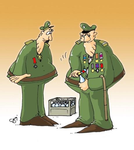 weterani, żołnierze, piwo, alkohol, spotkanie, butelka