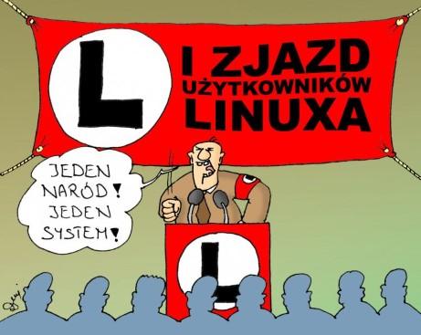 linux, zjazd, faszyści