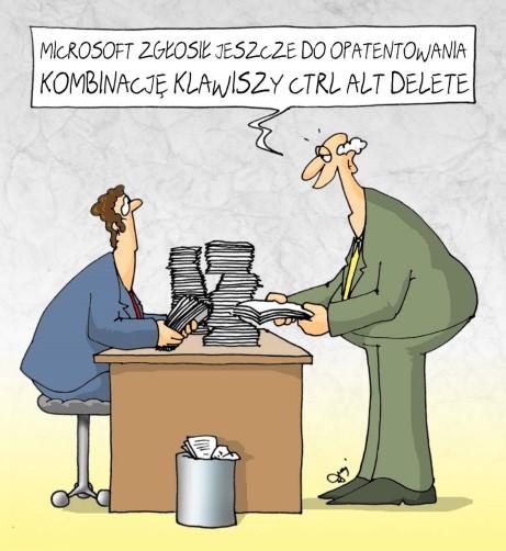 ctrl+alt+delete, microsoft, reset, patent, urząd patentowy