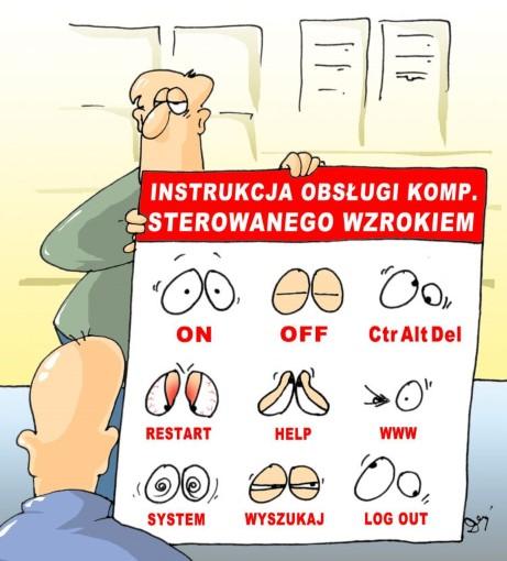 komputer, instrukcja, sterowanie wzrokiem