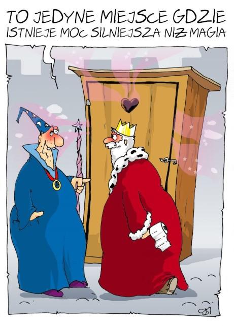 kibel, toaleta, król, czarodziej, magia, czarowanie
