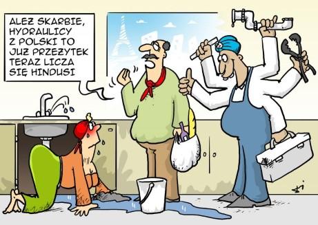 francja, hydraulik, naprawa, hindus, praca w kuchni