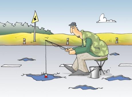wędkarstwo, łowienie ryb, drogi, dziury w drodze, dziurawe drogi