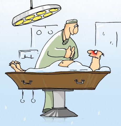 lekarz, operacja, trumna, powodzenie, przerażenie