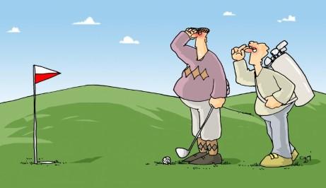 golf, polska, flaga, salut, granie w golfa