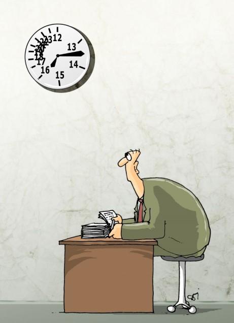 godziny pracy, harówka, praca, nuda, dłużyzny w pracy