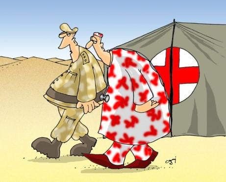irak, żołnierz, ranny, lekarz, maskowanie, operacja